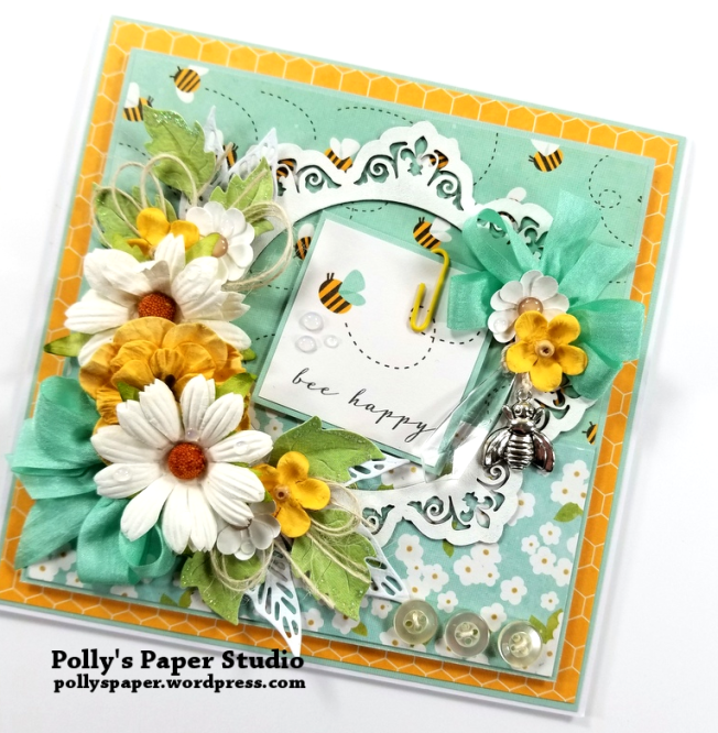 Bee Happy Greeting Card 2 Polly's Paper Studio 02