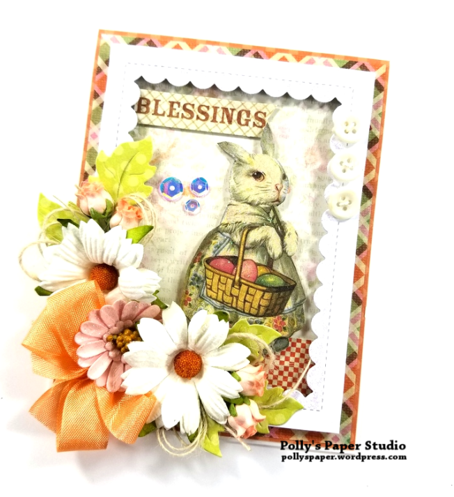 Blessings Easter Greeting Card Polly's Paper Studio 01