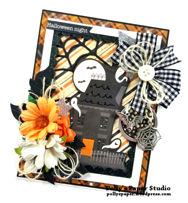 Halloween Night Greeting Card Polly's Paper Studio 02