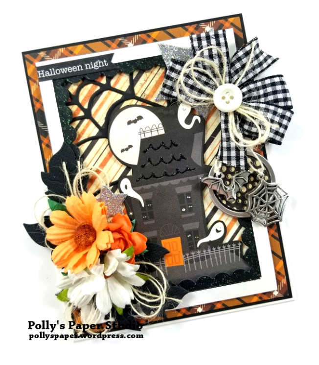Halloween Night Greeting Card Polly's Paper Studio 03