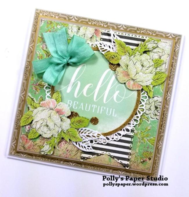 Hello Beautiful Greeting Card Polly's Paper Studio 03