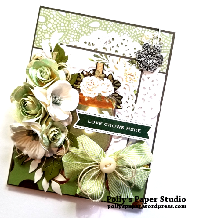 Love Grows Here Greeting Card Green Polly's Paper Studio 02