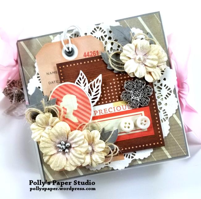 Precious Scrapbook Mini Album Polly's Paper Studio 01