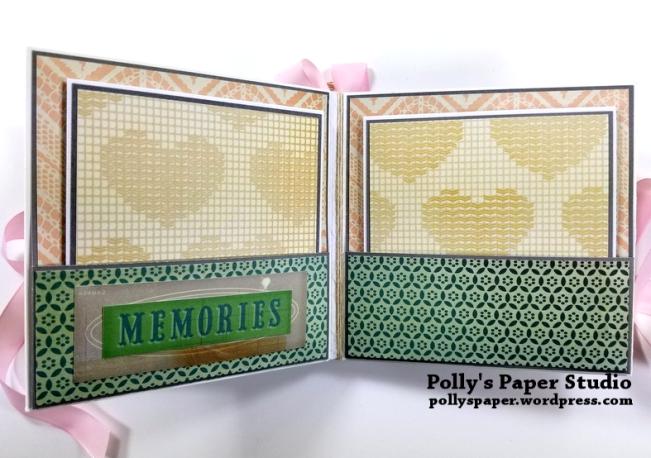Precious Scrapbook Mini Album Polly's Paper Studio 04