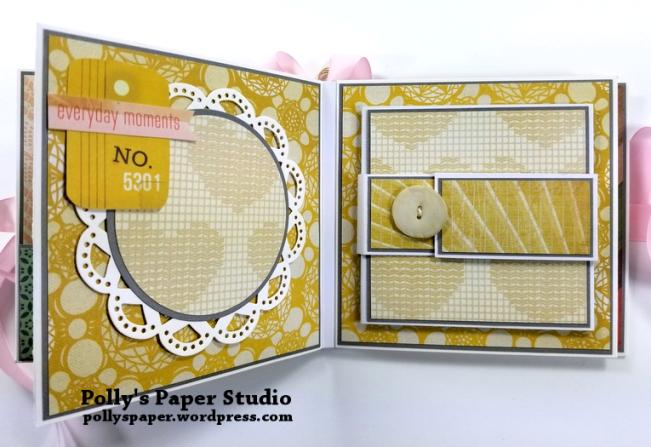 Precious Scrapbook Mini Album Polly's Paper Studio 06