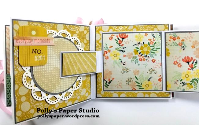 Precious Scrapbook Mini Album Polly's Paper Studio 07