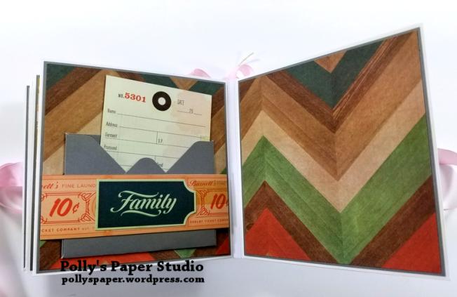 Precious Scrapbook Mini Album Polly's Paper Studio 08