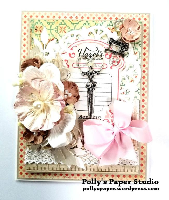 Sewing Greeting Card Polly's Paper Studio 02