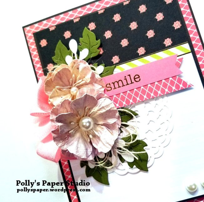 Smile Greeting Card Polly's Paper Studio 01
