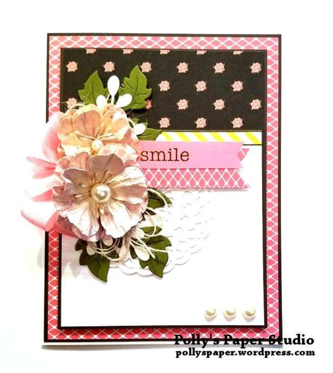 Smile Greeting Card Polly's Paper Studio 02