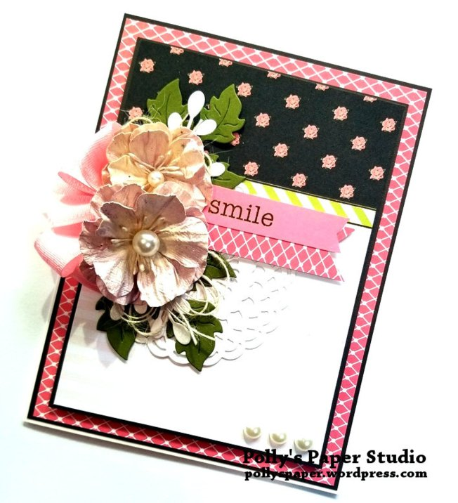 Smile Greeting Card Polly's Paper Studio 03