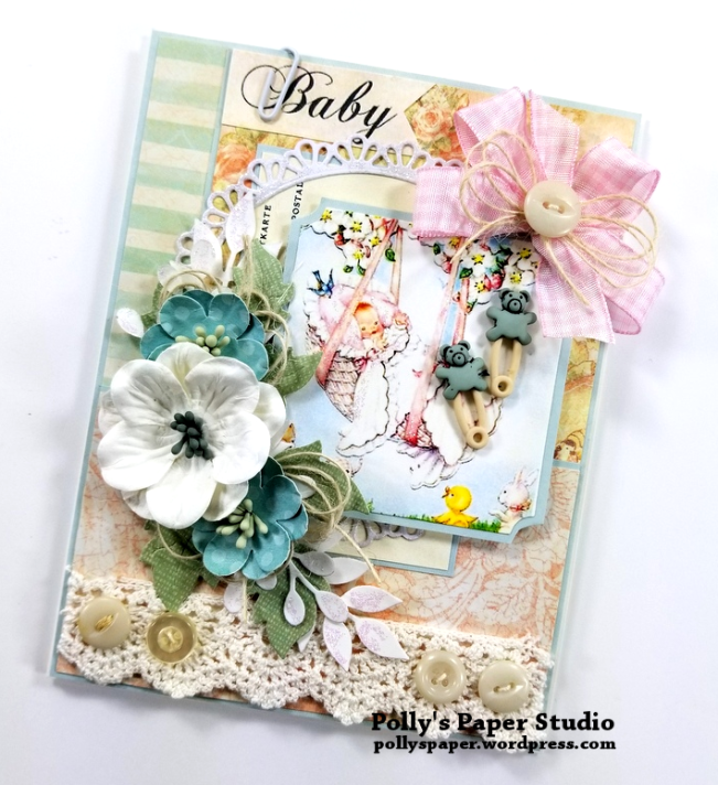 Baby Greeting Card Polly's Paper Studio 02