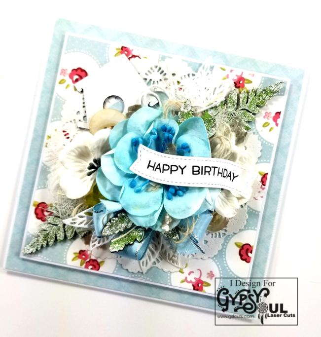 Happy Birthday Birdhouse Greeting Card Polly's Paper Studio 02