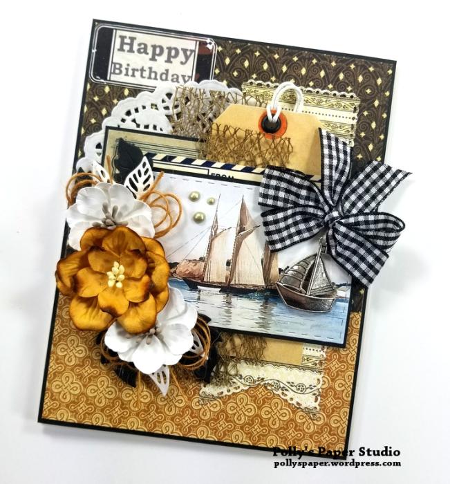 Happy Birthday Ship Greeting Card Polly's Paper Studio 02