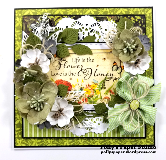 Life is the Flower Greeting Card Polly's Paper Studio 01