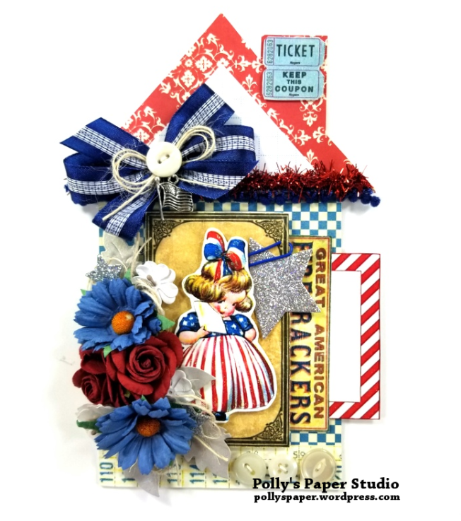 Patriotic House Tag Polly's Paper Studio 01