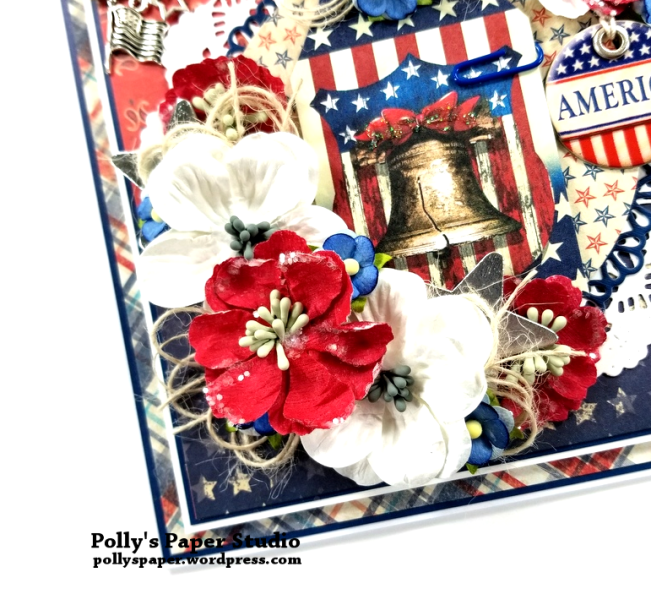 United We Stand Patriotic Greeting Card Polly's Paper Studio 03