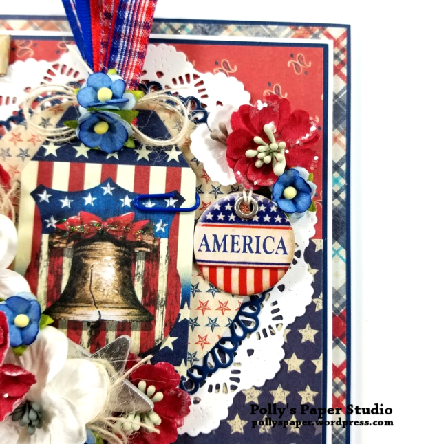 United We Stand Patriotic Greeting Card Polly's Paper Studio 05