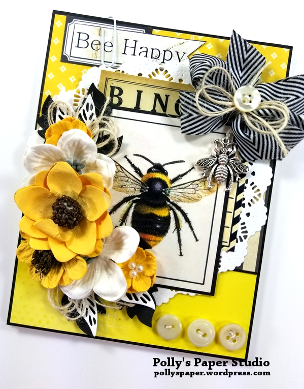 Bee Happy Greeting Card Polly's Paper Studio 02