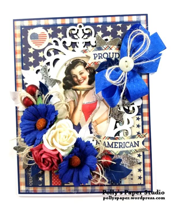 Proud American Patriotic Greeting Card Polly's Paper Studio 01