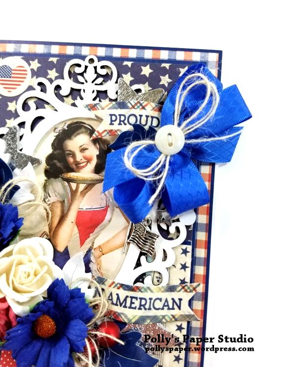 Proud American Patriotic Greeting Card Polly's Paper Studio 05