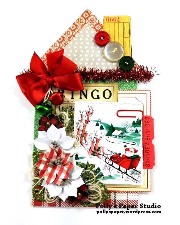 Bingo Christmas House Tag Polly's Paper Studio 01