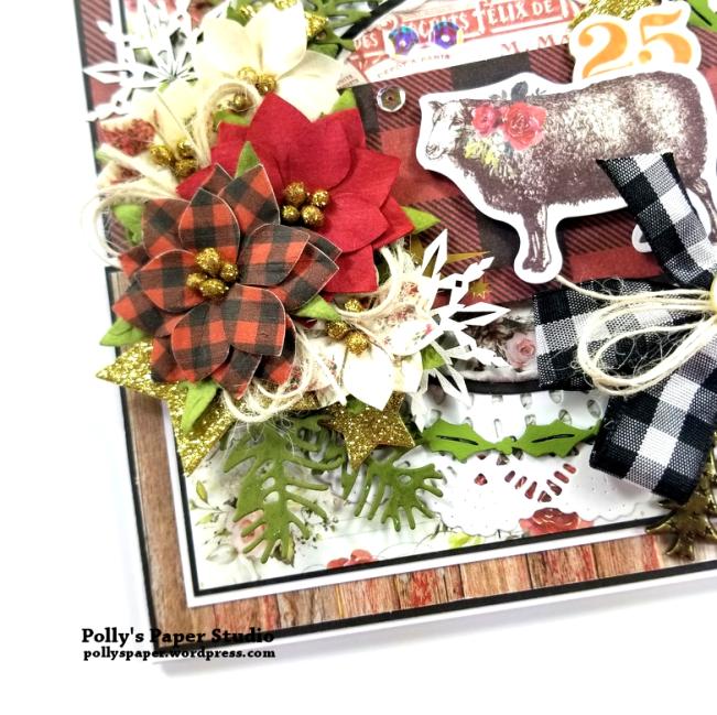 Joy Fancy Fold Christmas Card Polly's Paper Studio 03