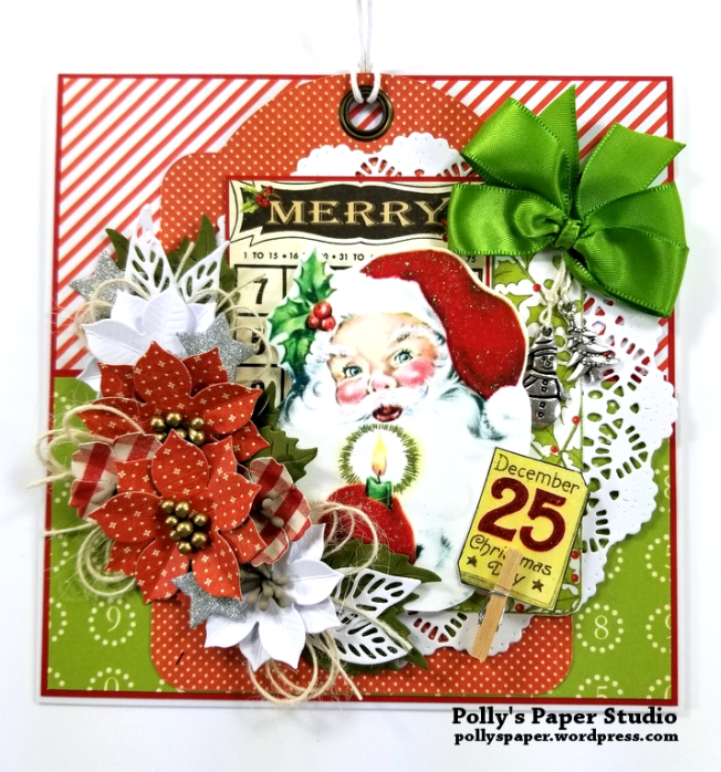 Merry Bingo Santa Greeting Card Polly's Paper Studio 01