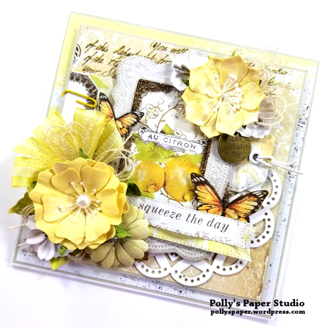 Prima Fruit Paradise A4 Paper Pad & Journal Cards Tim Holtz Idea-ology BaseBaord Frames Prima Flowers Citrus 2