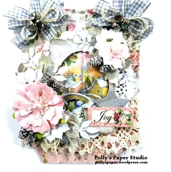 Shabby Chic Christmas Wall Hanging Polly's Paper Studio 01
