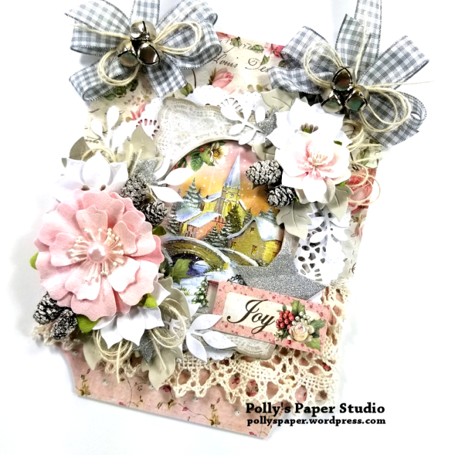 Shabby Chic Christmas Wall Hanging Polly's Paper Studio 02