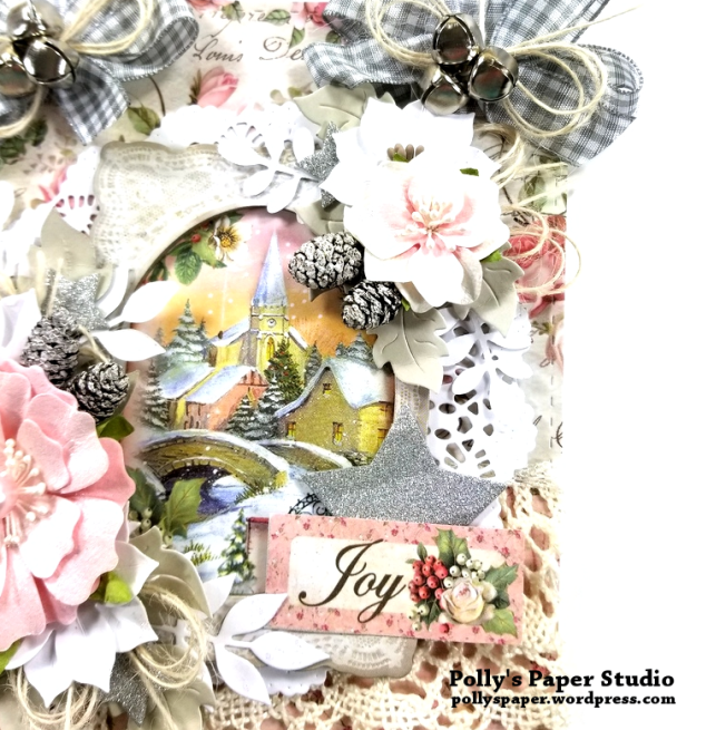 Shabby Chic Christmas Wall Hanging Polly's Paper Studio 05