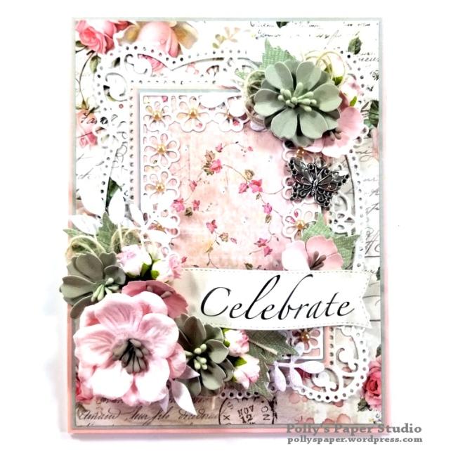 Celebrate Card Spellbinders Amazing Paper Grace Die Polly's Paper Studio 01