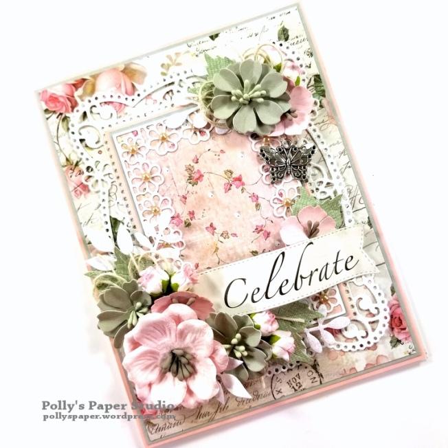 Celebrate Card Spellbinders Amazing Paper Grace Die Polly's Paper Studio 02
