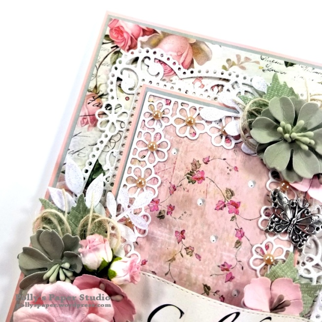 Celebrate Card Spellbinders Amazing Paper Grace Die Polly's Paper Studio 05