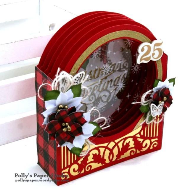 Christmas Greetings Snow Globe Polly's Paper Studio 02
