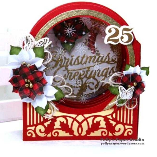 Christmas Greetings Snow Globe Polly's Paper Studio 03