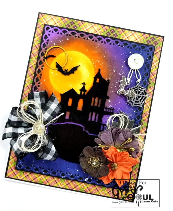 Haunted House Greeting Card Polly's Paper Studio 02