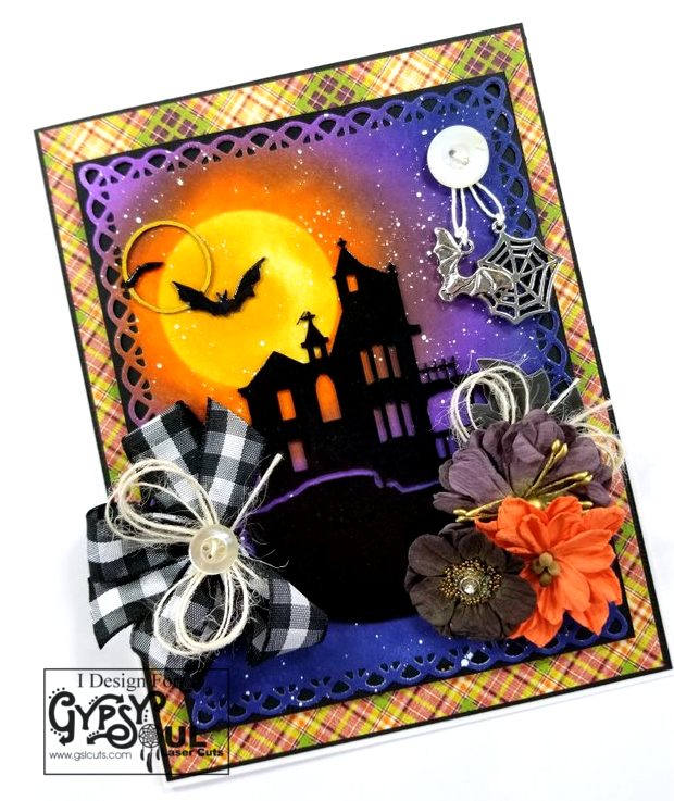 Haunted House Greeting Card Polly's Paper Studio 03