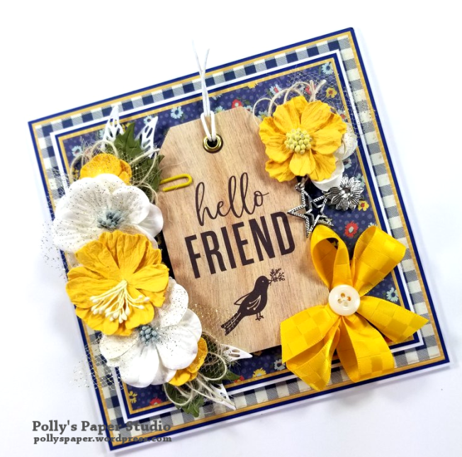 Hello Friend Greeting Card Polly's Paper Studio 03