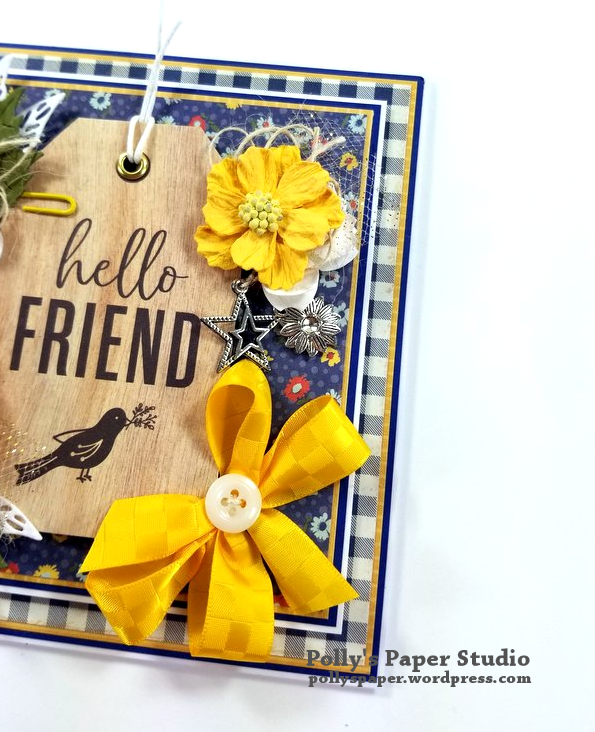 Hello Friend Greeting Card Polly's Paper Studio 05