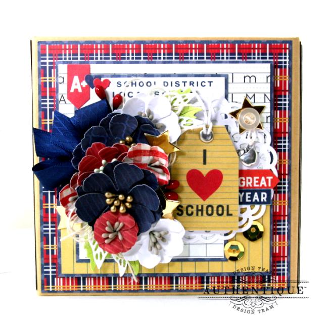 I love School Mini Album & Decor Box Polly's Paper Studio 01