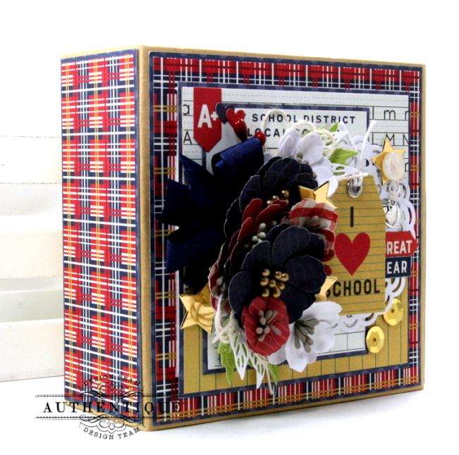 I love School Mini Album & Decor Box Polly's Paper Studio 02