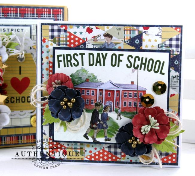 I love School Mini Album & Decor Box Polly's Paper Studio 04