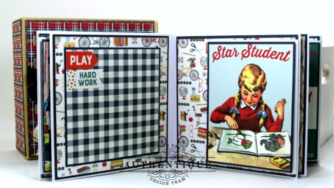 I love School Mini Album & Decor Box Polly's Paper Studio 06