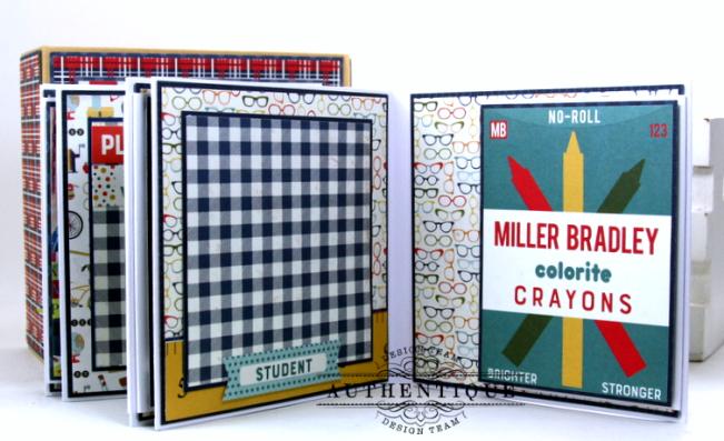 I love School Mini Album & Decor Box Polly's Paper Studio 08