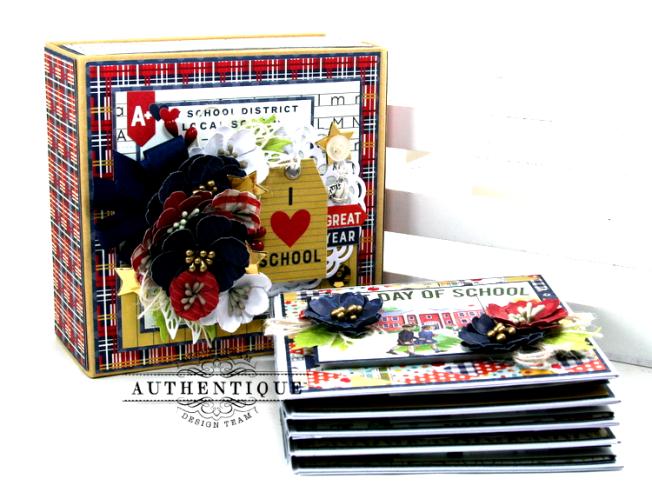 I love School Mini Album & Decor Box Polly's Paper Studio 09