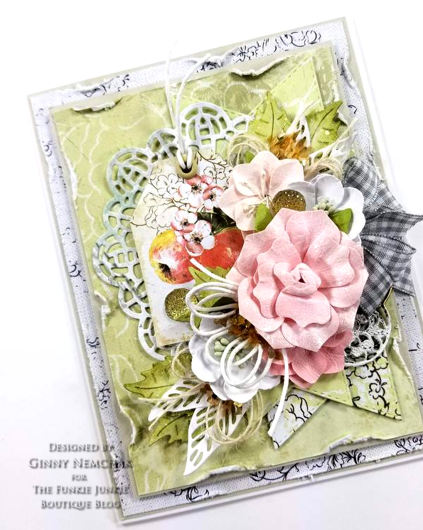 Prima Fruit Paradise A4 Paper Pad Ripe Berry Flowers Citrus Twist Flowers Ice Resin Cabochon Frilly & Funkie 03