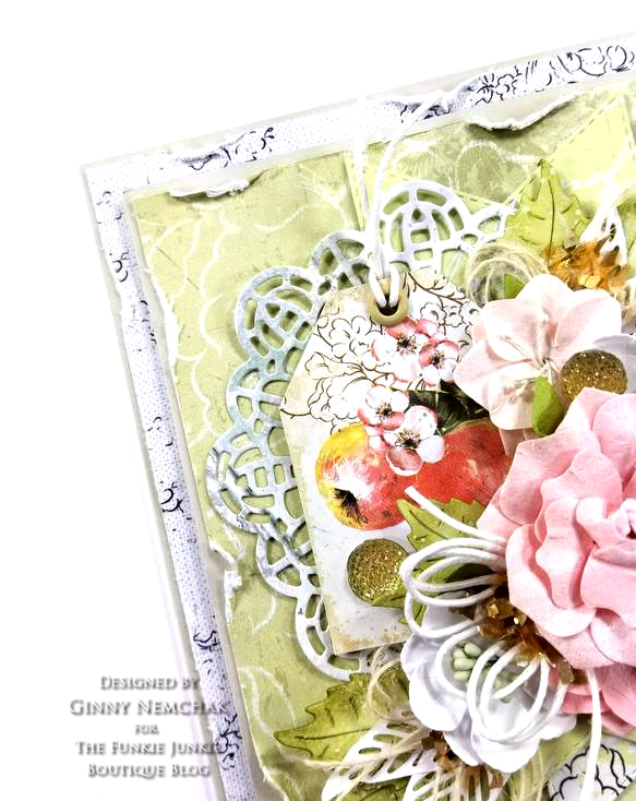 Prima Fruit Paradise A4 Paper Pad Ripe Berry Flowers Citrus Twist Flowers Ice Resin Cabochon Frilly & Funkie 05
