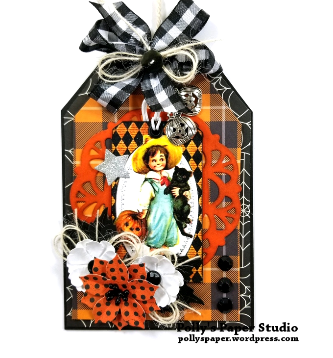 Halloween Layered Tag 1 Polly's Paper Studio 01